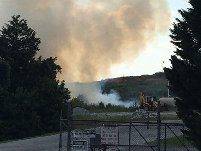 Fire at Pickens County landfill (Aug. 4, 2017/FOX Carolina)