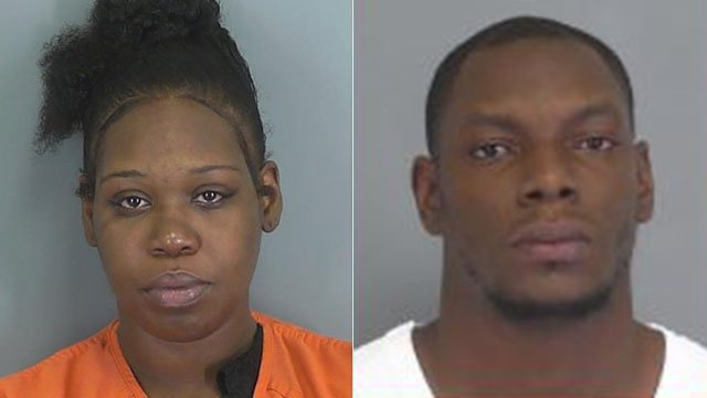 Crystal Dominique Lovett (left) and Darius Keyon Benson (right) (Source: Spartanburg County Detention Center)