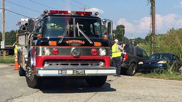 Scene of Anderson Co. crash (FOX Carolina/ 8/6/17)