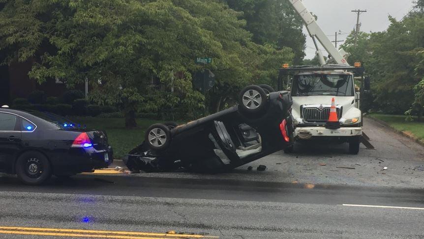 Scene of the crash in Greer (FOX Carolina/ Aug. 7, 2017)