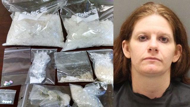 Tabitha Hammond/ Seized drugs (Source: OCSO)