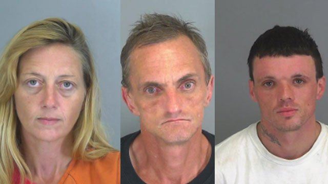 L to R: Tammy Cagle, Thomas Thompson, Billy Praytor (Source: Spartanburg Detention Center)