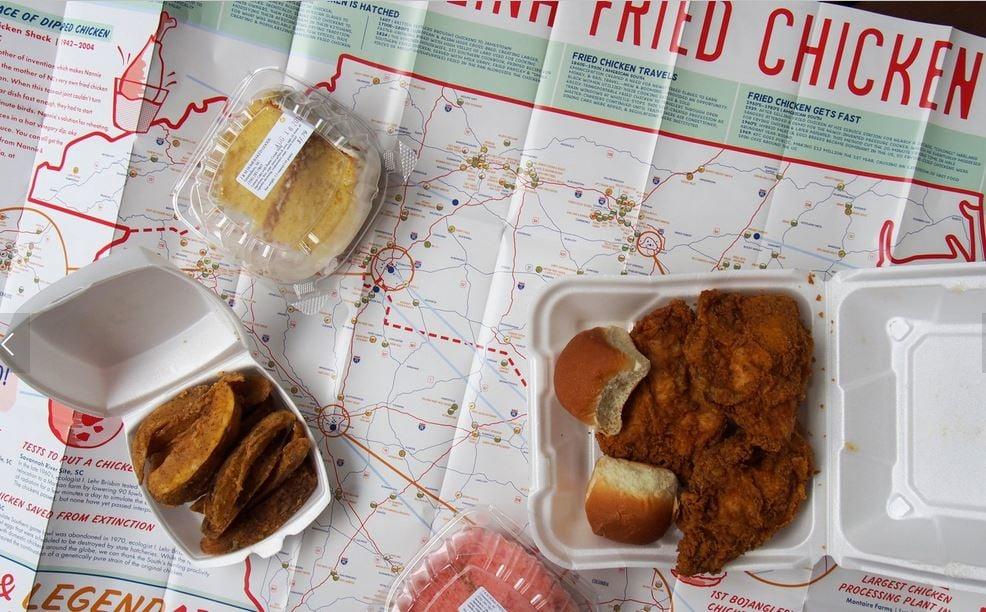The Great Carolina Fried Chicken Map (Source: Edia)