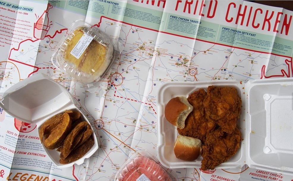 The Great Carolina Fried Chicken Map (Source: Edia)