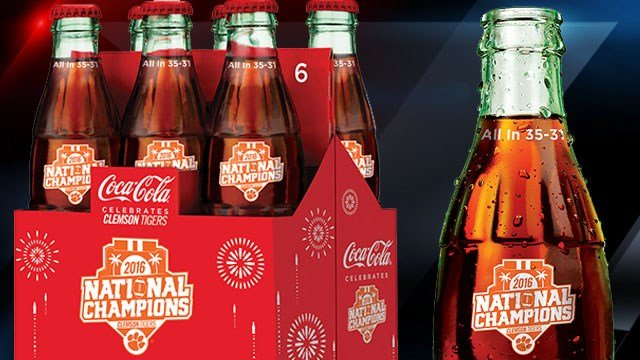 Commemorative bottles (Courtesy: Coke Consolidated)