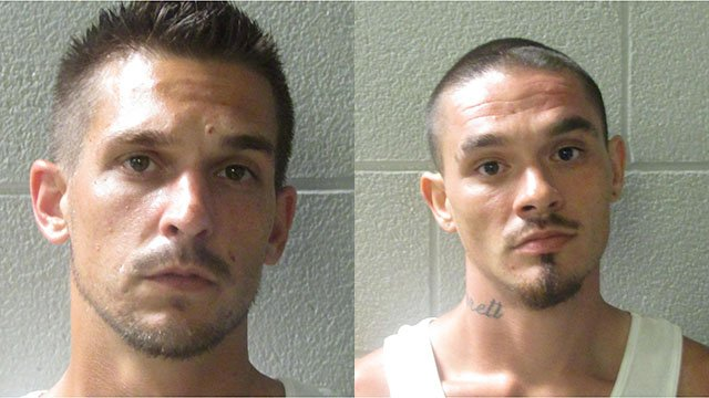 Christopher James Gilliam (left) and Jarret Olin Gordon (right) (Source: Henderson Co. Sheriff's Office)