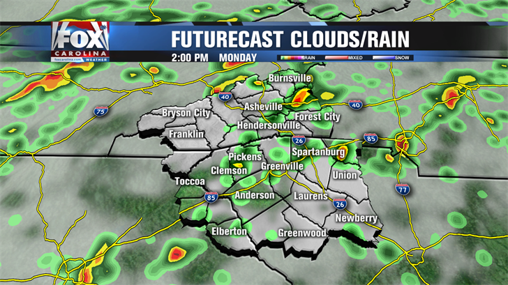 Afternoon storms today with hotter weather ahead this week ...