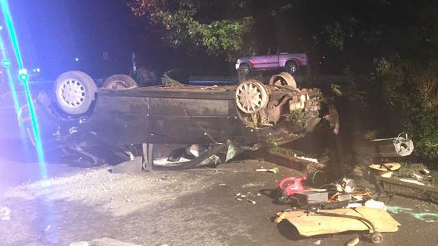 Photo of the crash scene (Courtesy: Tryon FD)
