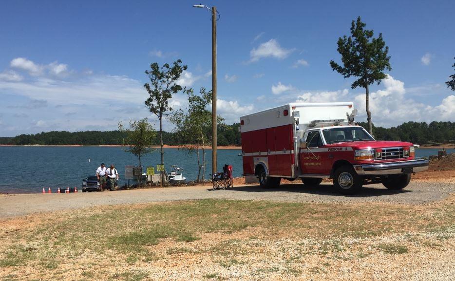 Scene of the search on Lake Hartwell (FOX Carolina/ Aug. 18, 2017)