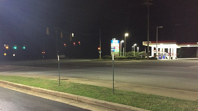 Scene of reported shooting on E Blackstock Road and Georgia Road. (8/19/17 FOX Carolina)