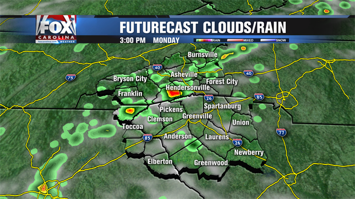 Cold front sweeping across state will spark scattered showers, thunderstorms Tuesday evening