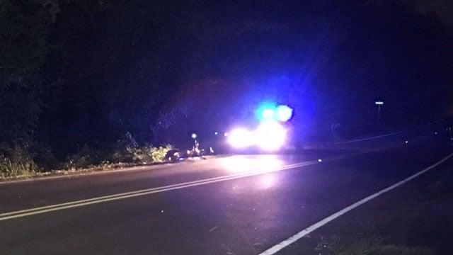 Scene of Greenville Co. hit and run crash (FOX Carolina/ 8/20/17)