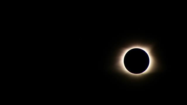 Eclipse totality over FOX Carolina station in Greenville. (Aug. 21, 2017/FOX Carolina)