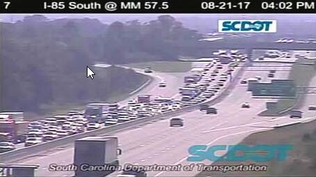 I-85 North at MM 54 in Greenville Co. (Source: SCDOT)