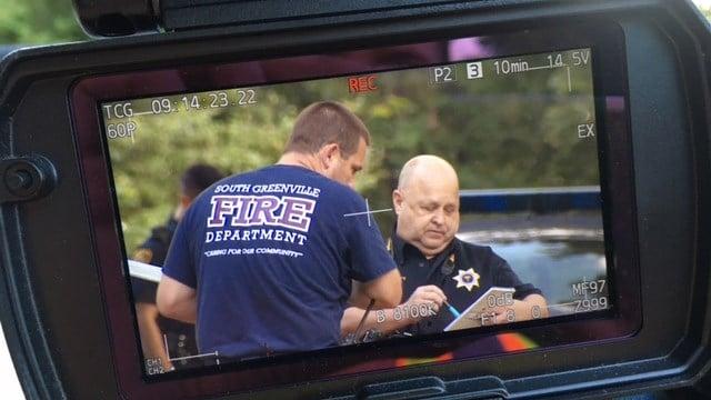 Scene of reported assault in Greenville Co. (8/21/17 FOX Carolina)