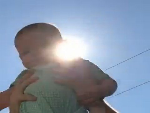 Baby recreates total solar eclipse. (Source: Perry family)