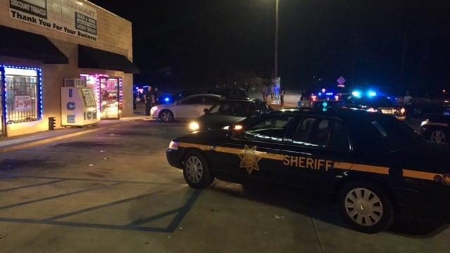 Scene of foot pursuit on White Horse Road. (8/21/17 FOX Carolina)