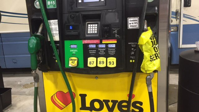 Love's Truck stop our of fuel. (8/21/17 FOX Carolina)