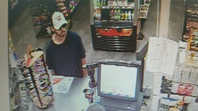 Police are searching for this suspect in regards to a robbery at Citgo. (Source: GPD)
