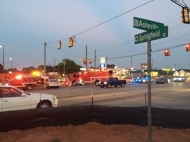 Trooper-involved crash (FOX Carolina/ August 21, 2017)