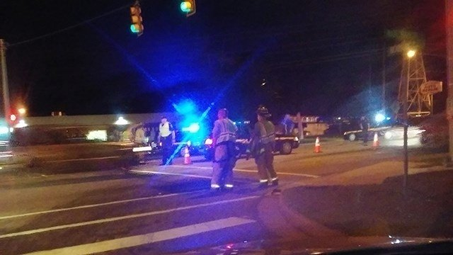 Scene of deputy-involved wreck in Greenville. (Credit: April)