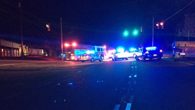 Scene of fatal wreck on SC 101 at N Rutherford Road. (8/22/17 FOX Carolina)