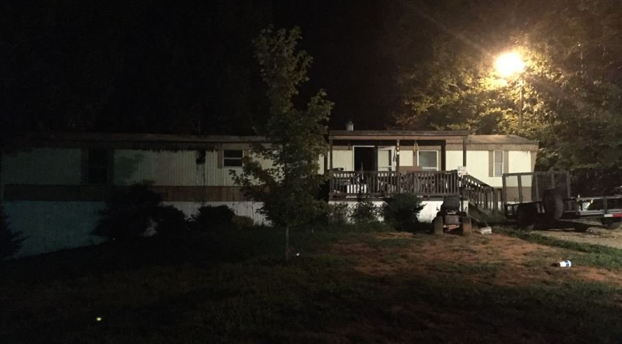 Photo of the home after the fire (FOX Carolina/ Aug. 22, 2017)