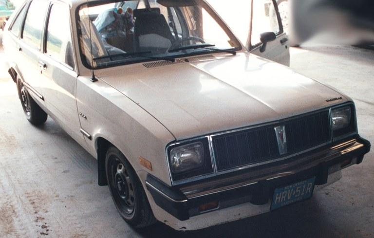 Zywicki's 1985 Pontiac T1000, New Jersey license plates (Source: FBI)