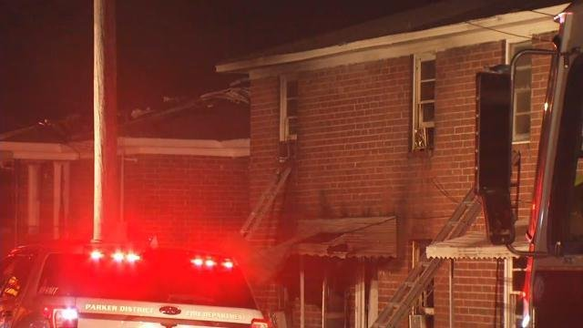Fire on Hampton Avenue (FOX Carolina/ August 24, 2017)