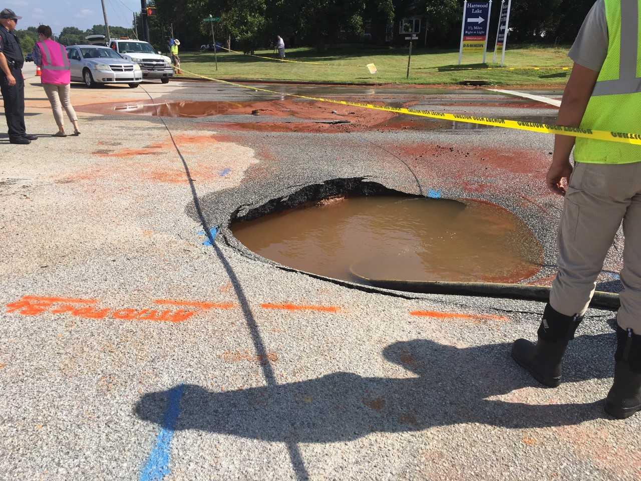 Water main broken on Brushy Creek (Source: SCDOT)