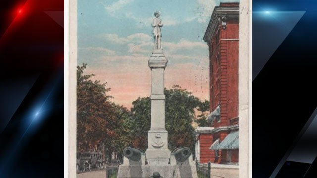 Illustration of the Confederate Monument in Greenville (Courtesy: City of Greenville)