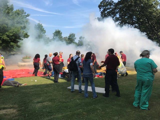 Training at Greenville Memorial Hospital (Aug. 25, 2017/ FOX Carolina)