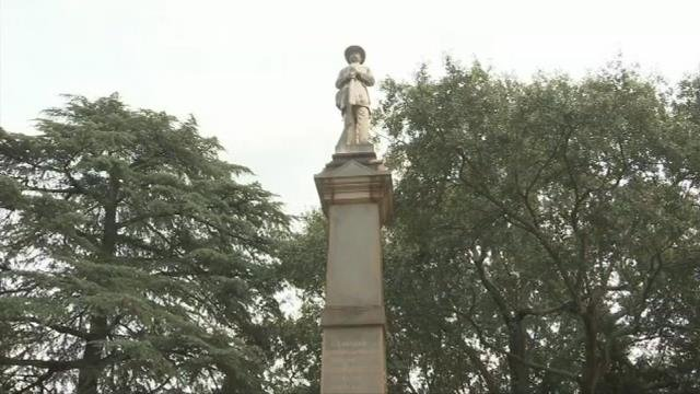 Members of Fighting Injustice Together want monument that honors the confederacy moved. (FOX Carolina/ August 25, 2017)