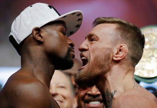 Floyd Mayweather vs. Conor McGregor (AP image)