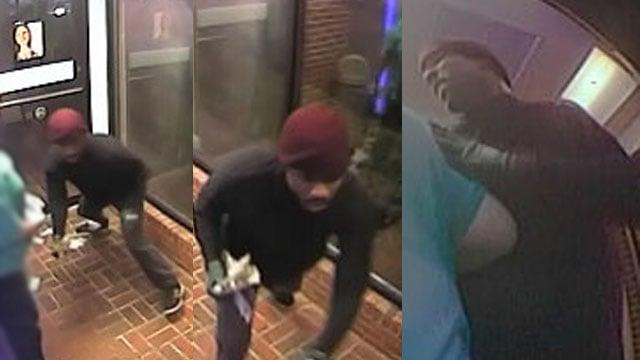 Surveillance images of the suspect (Source; APD)