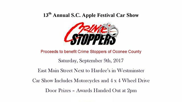 SC Apple Festival Car Show (Source: Oconee County Sheriff's Office)