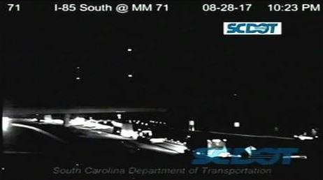 Crash on I-85 in Spartanburg Co. (Source: SCDOT)