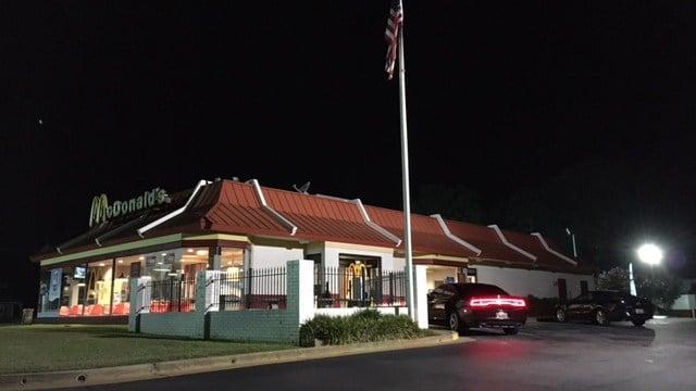 Deputies on scene at McDonald's on Chesnee Hwy. (8/28/17 FOX Carolina)