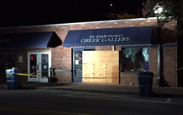 Damage to the Greek Gallery (FOX Carolina/ August 30, 2017)