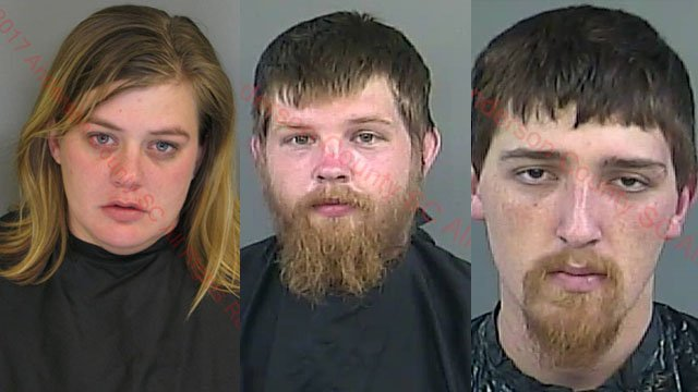 From left: Crystal Hudson, Travis Attaway, Evan Tatham (Source: ACSO)