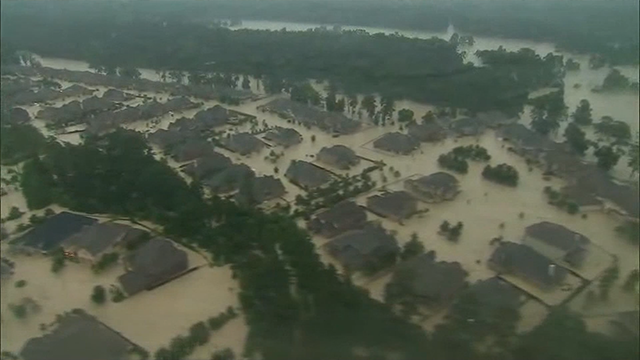 Flooding in Houston, TX. (Source: CNN)