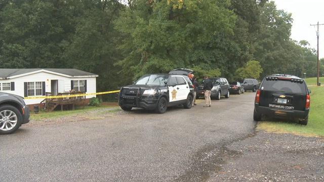 Scene of the investigation (FOX Carolina/ Aug. 31, 2017)