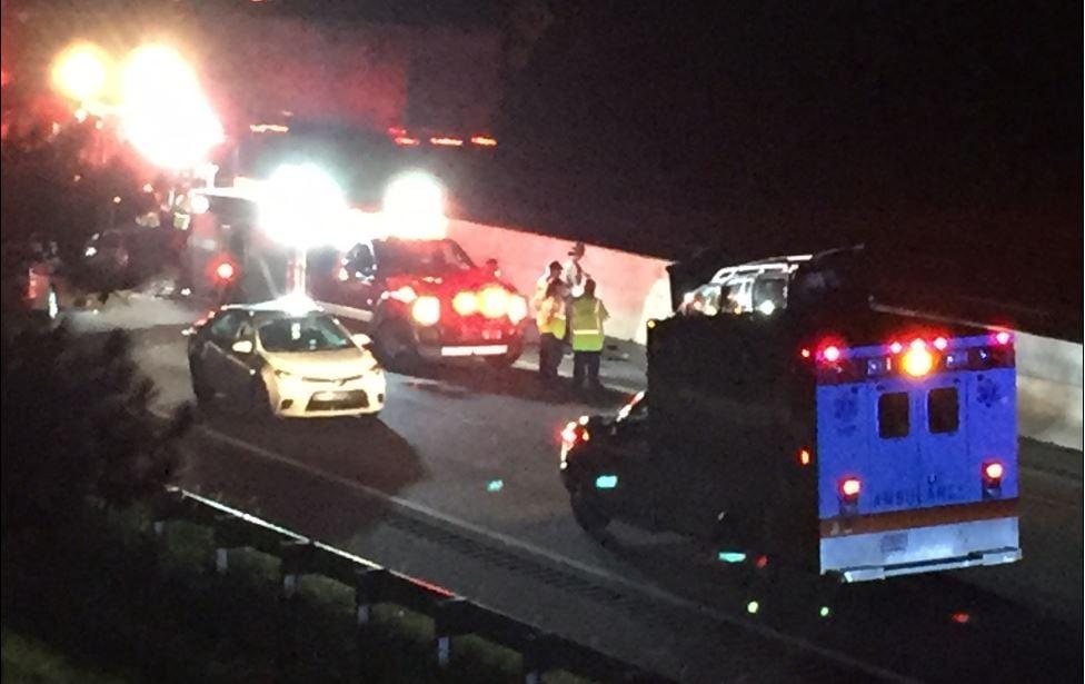 Troopers said a deadly crash shut down I-385 North near Fountain Inn (FOX Carolina/ September 1, 2017)