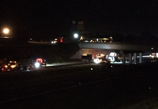 The crash shut down I-85 North near the GA/SC border (Sep. 1, 2017/ FOX Carolina)