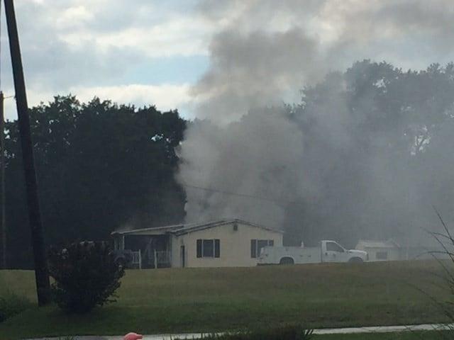 Fire on Spearman Drive in Taylors (Sept. 1, 2017/FOX Carolina)