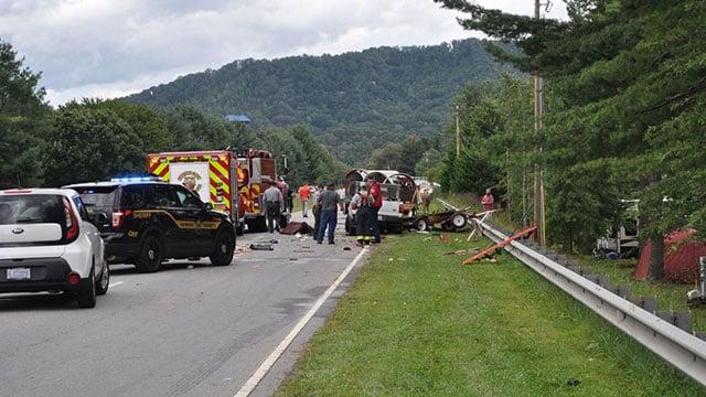 Scene of fatal wagon train crash (Source: The Mountaineer)