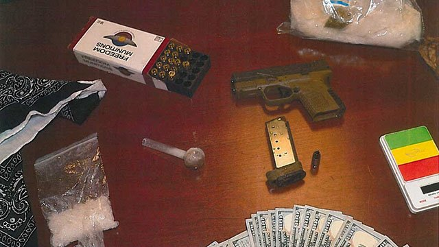 Evidence confiscated from  traffic stop. (Source: CCSO)