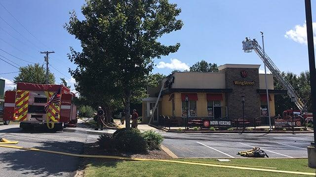 Fire at Pizza Hut. (9/2/17 FOX Carolina)