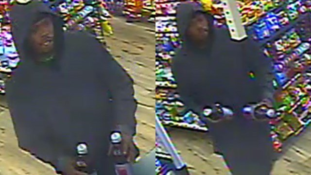 Greenville Police searching for this suspect in regards to armed robbery at Corner Mart. (Source: GPD)