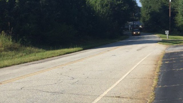 Scene of head-on collision. (9/3/17 FOX Carolina)